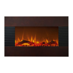 """Northwest 36"""" Mahogany Fireplace with Wall Mount & Floor Stand"""