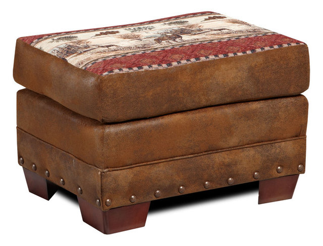 Deer Valley Ottoman Southwestern Footstools And