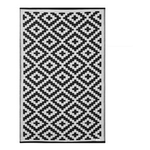 Nirvana Indoor/Outdoor Rug, Black and White, 90x150 Cm