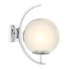 "Globe Wall Lamp | Eichholtz Cascade, Silver, 8""Wx12""Dx13""H"