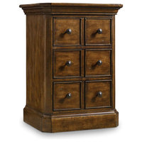 "Hooker Furniture 5447-90317 Archivist 22"" Long Rubberwood Traditional Style End"