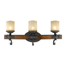 Superior Golden Lighting   Madera 3 Light Bathroom Vanity Light, Black Iron   Bathroom  Vanity