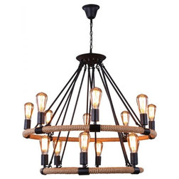 Stunning Industrial Chandeliers by LB lighting
