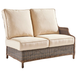 Groovy Barrington Lsf Sectional One Arm Loveseat Tropical Pabps2019 Chair Design Images Pabps2019Com