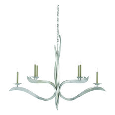 Paradigm Chandelier - Contemporary Silver Leaf