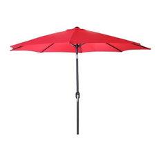 Jordan Manufacturing Steel Market Umbrella, Red, 9'