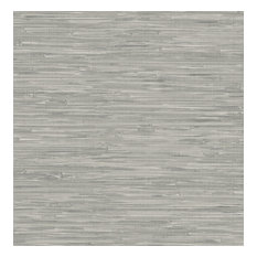 Faux Gray Grasscloth Peel and Stick Wallpaper, Sample