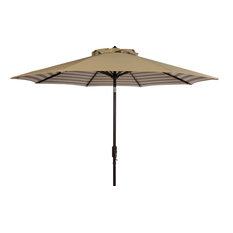 Tiana 9FT Crank Umbrella, Beige, White