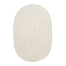 Colonial Mills, Inc - Colonial Mills Boca Raton BR10 White 11' x 14' Oval - Outdoor Rugs