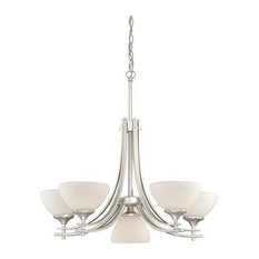 Vaxcel SE-CHB006BN Sebring 6-Light Chandelier Brushed Nickel
