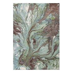"Illusions 6203 Seafoam Watercolors Rug, 5'3""x7'7"""
