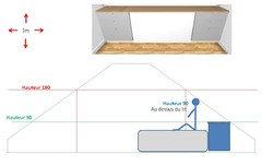 Besoin d 39 aides pour t te de lit sous pente - Modernizer escalier en bois ...