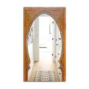 Designart Ancient Door Morroco Traditional Large Wall Mirror, 28x48