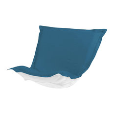 Howard Elliott Puff Chair Cushion With Cover, Seascape Turquoise