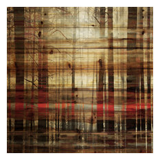 """""""Sunlight Through the Trunks"""" Print on Natural Pine Wood, 32""""x32"""""""