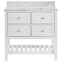 Elma Soft White Bathroom Vanity, 36""