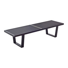 Iconic Nelson Inspired Slat Bench, Black 48""