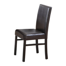 Melissa Espresso Faux Leather Side Chairs Set Of 2