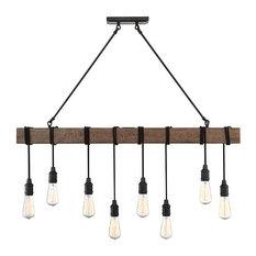 Burgess 8-Light Linear Pendant, Durango