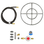 """EasyFirePits.com - 18"""" Double Ring and Complete Basic Propane Fire Pit Kit - 18 inch Double Ring Complete Basic Propane Fire Pit Kit Model: FR18CK"""
