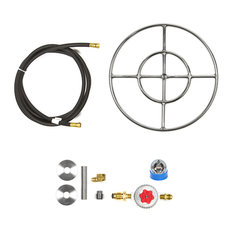"""18"""" Double Ring and Complete Basic Propane Fire Pit Kit"""