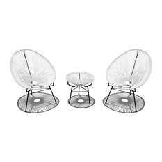 MOD - Bennetendi 3-Piece Outdoor Chat Set, White - Outdoor Lounge Sets