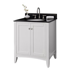 Fairmont Designs Shaker Americana 30-inch Single Vanity White Integral Bowl 3-Hole