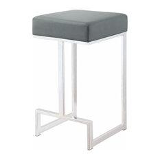Metal Counter Height Stool, Gray