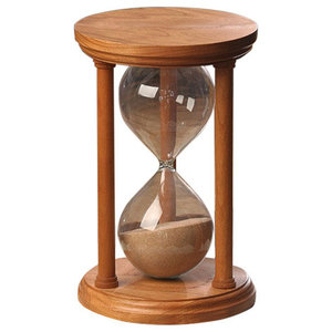 39cd6cb47bd Solid Ziricote Wood Hourglass With Smooth Spindles - Traditional ...