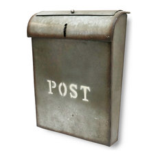 NACH Emily POST Industrial Style Wall Mounted Mailbox, Rustic Metal