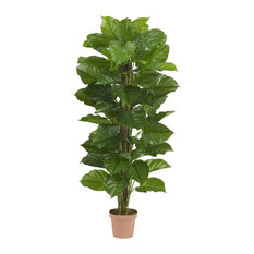 63 in. Large Leaf Philodendron Silk Plant - Real Touch