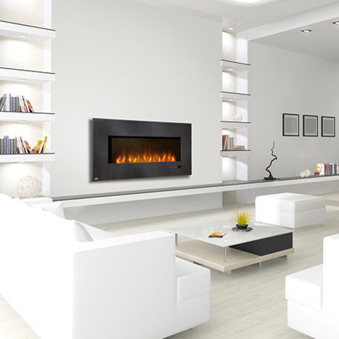 Napoleon - Napoleon 48-Inch Slimline Black Wall Mount Electric Fireplace -  EFL48H - Indoor - Wall Mounted Electric Fireplaces