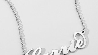 Carrie Style Copper Name Necklace