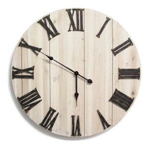 Stratton Home Decor Antique Oval Bird Clock Farmhouse Wall Clocks By Ami Ventures Inc