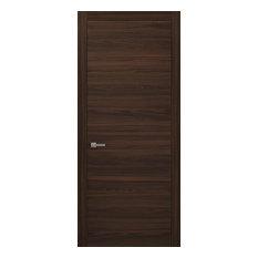 Panel Eco-Veneer Modern Door Slab 36 x 84   Planum 0010 Chocolate Ash