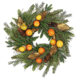 Farmhouse Wreaths And Garlands by Silk Flower Depot