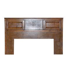 Traditional Queen Bookcase Headboard Whitewash Oak E King