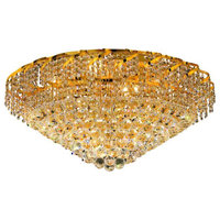 Belenus 12-Light Gold Flush Mount Clear Swarovski Elements Crystal