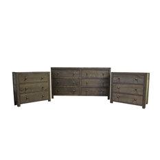 Rustic Distressed Wood Bedroom Set