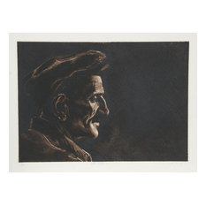 "Harry McCormick ""The Fisherman"" Etching"