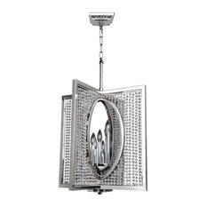 Rockefeller 6 Light Chandelier, Firenze Clear