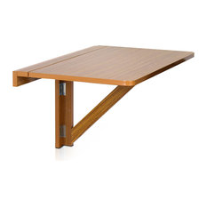 Furinno Drop-Leaf Folding Table, Cherry