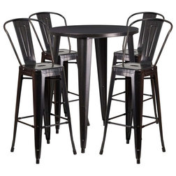 Industrial Outdoor Pub And Bistro Sets by Homesquare
