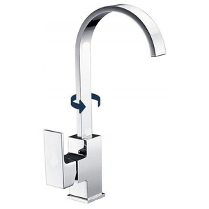 Modern Single Lever Kitchen Sink Mixer Tap With 360 Swivel Spout, Elegant Design