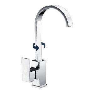 Modern Single Lever Kitchen Sink Mixer Tap With 360 Swivel Spout, Elegant Design