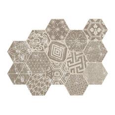 Iowa Mix Tiles, Set of 16, Ivory
