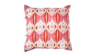 "Medallion Pillow Eurosham 26x26"" Pink/Orange"