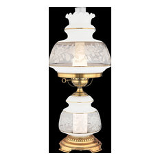 Satin Lace 1 Light Table Lamp in Gold Polished Flem