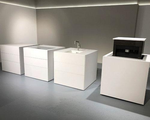 CUBE / Modulküche Quarzkomposit weiß - Products