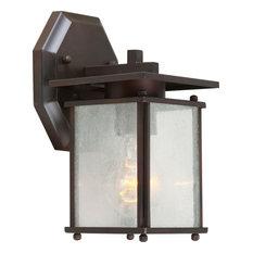Forte Lighting 1128-01 1 Light Outdoor Wall Sconce - Bronze